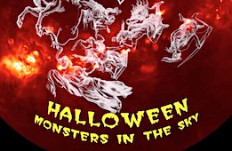 Halloween Monsters in the Sky